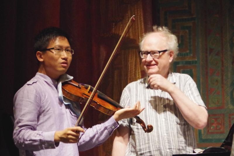 Proben 19.09.2016 - Dan Zhu (Violine) und Bengt Forsberg (Klavier) (Foto: Christine Tröger)