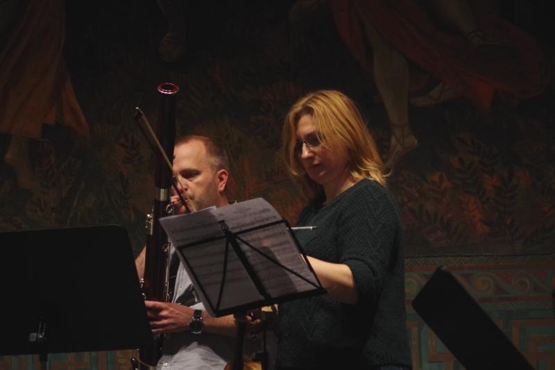 Proben 19.09.2016 - Jaakko Luoma (Fagott) und Rachel Roberts (Viola) (Foto: Christine Tröger)
