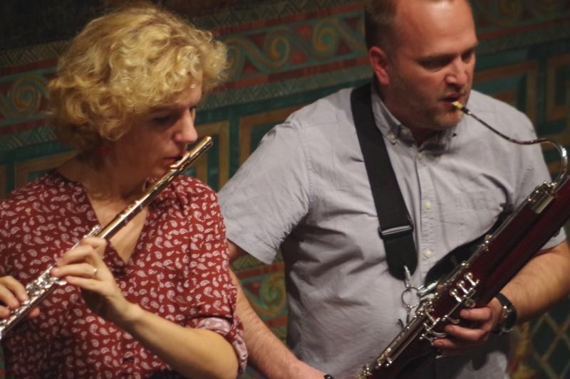 Proben 19.09.2016 - Anna Garzuly-Wahlgren (Flöte) und Jaakko Luoma (Fagott) (Foto: Christine Tröger)
