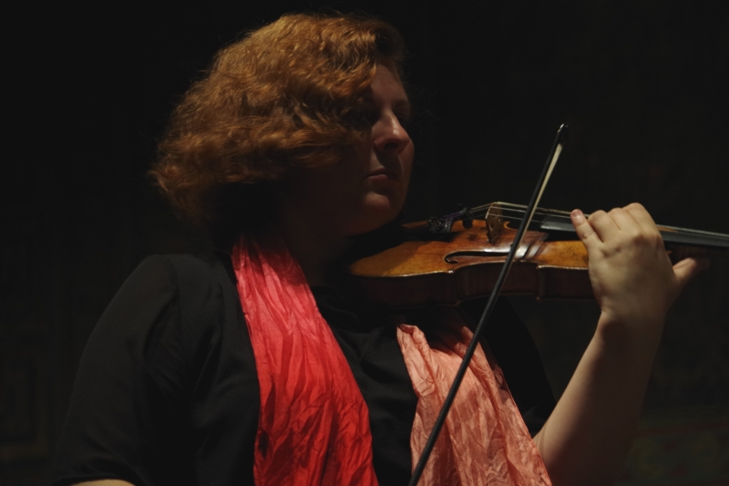 20.09.2016 - Proben: Natalia Prishepenko (Violine) (Foto: Christine Tröger)