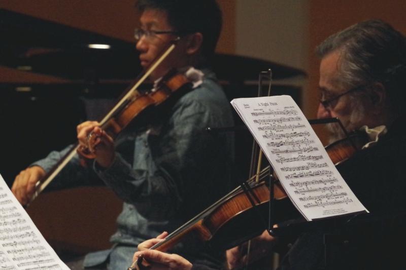 20.09.2016 - Proben: Dan Zhu (Violine) und Vladimir Mendelssohn (Viola) (Foto: Christine Tröger)