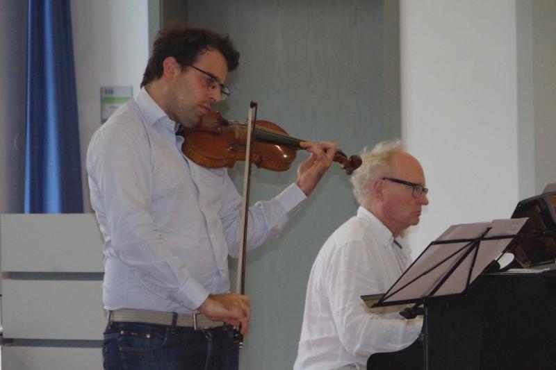 20.09.2016 - Proben: Amaury Coeytaux (Violine) und Bengt Forsberg (Klavier) (Foto: Christine Tröger)