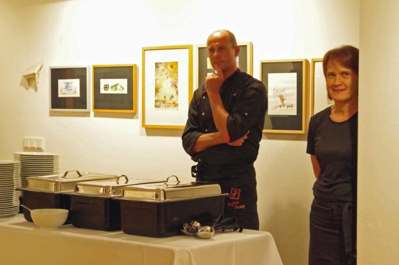 20.09.2016 - Abendessen bei Baurs: Lecker Sachen warten auf die Gäste. (Foto: Christine Tröger)
