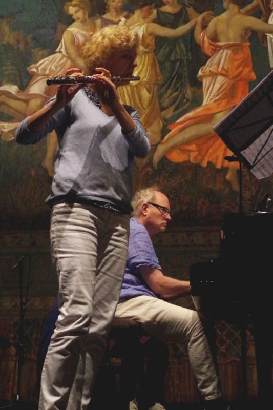 21.09.2016 - Proben: Im Duett - Anna Garzuly-Wahlgren (Flöte)<br />und Bengt Forsberg (Klavier) (Foto: Christine Tröger)
