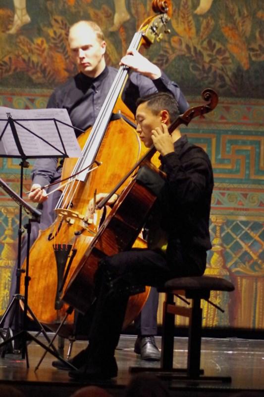 21.09.2016 - Konzert: Trey Lee (Violoncello), Gunars Upatnieks (Kontrabass) ... (Foto: Christine Tröger)