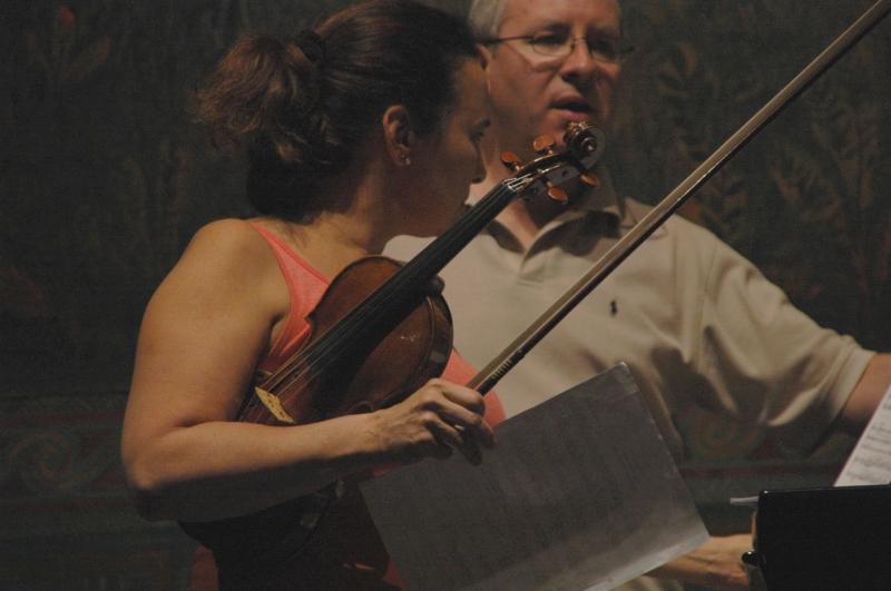 22.09.2016 - Proben: Eszter Haffner (Violine) und Oliver Triendl (Klavier) ...  (Foto: Christine Tröger)
