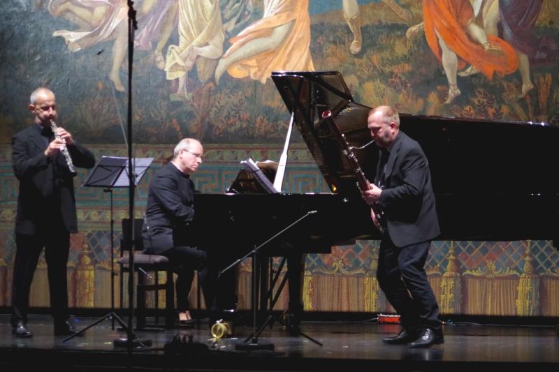 """22.09.2016 - Konzert: André Previn """"swinging"""" Trio - Stefan Schilli (Oboe), Jaakko Luoma (Fagott) und Oliver Triendl (Klavier). (Foto: Christine Tröger)"""