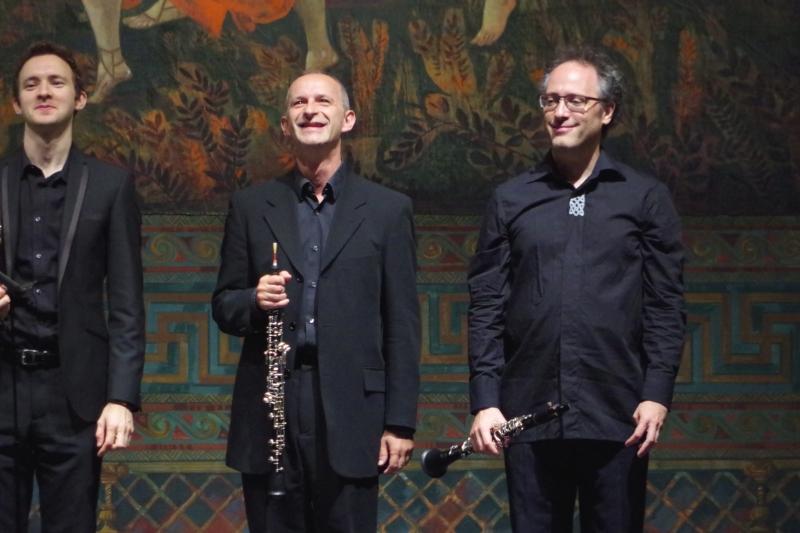 23.09.2016 - Konzert: Die Künstler freuen sich über starken Applaus. (Foto: Christine Tröger)