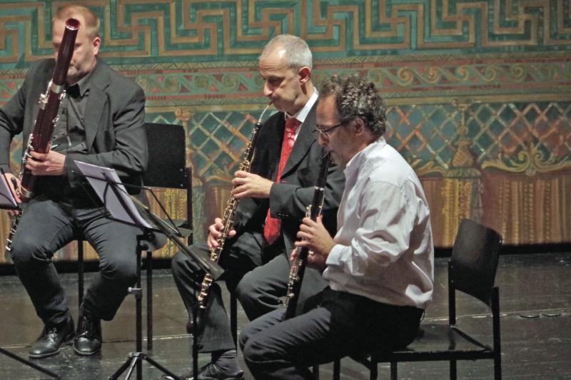 25.09.2016 - Konzert: ... Stefan Schilli (Englischhorn), Chen Halevi (Klarinette) und  Jaakko Luoma (Fagott) ... (Foto: Christine Tröger)