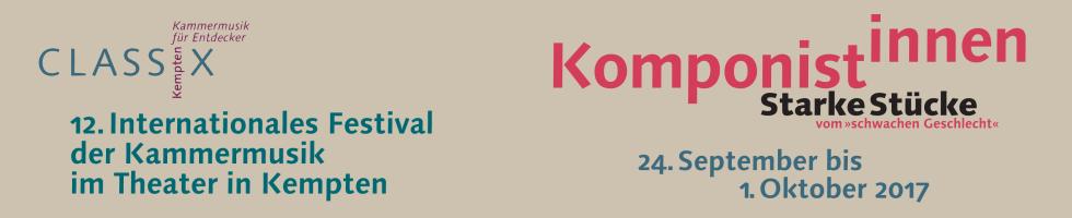 12. Internationales Festival der Kammermusik, 24.09.-01.10.2017, Theater in Kempten