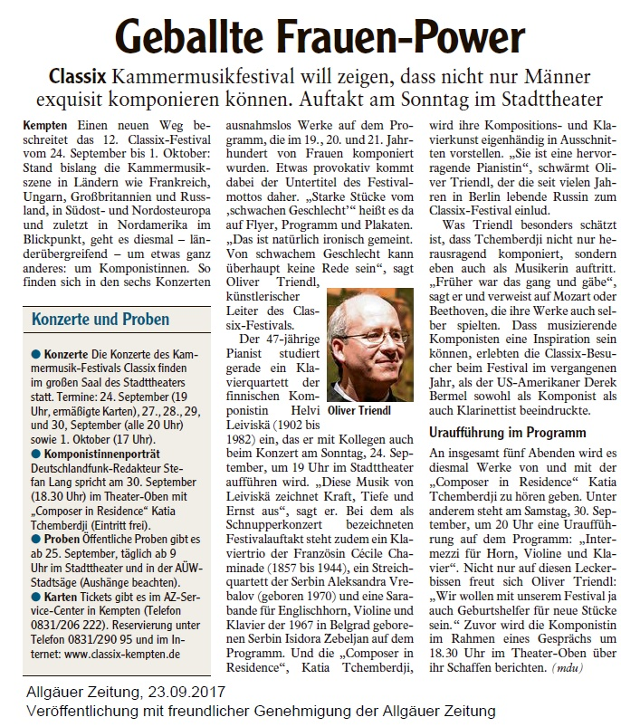 Allgäuer Zeitung, 23.09.2017