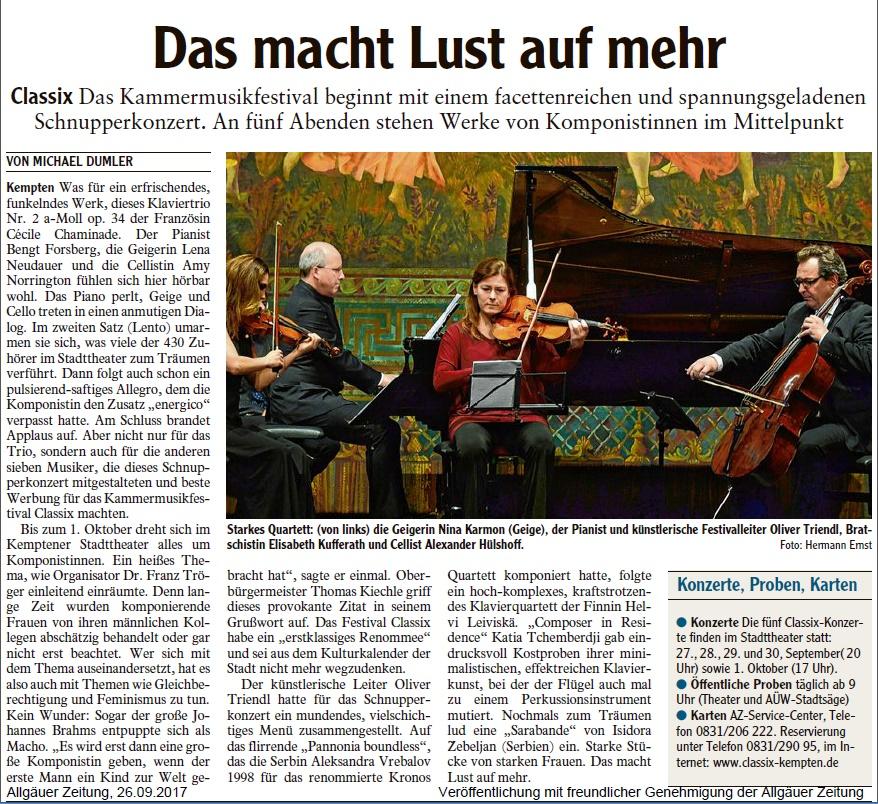 Allgäuer Zeitung, 26.09.2017