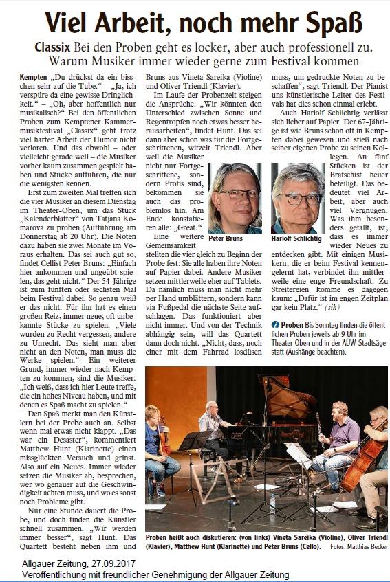 Allgäuer Zeitung, 27.09.2017