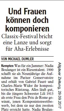 Allgäuer Zeitung, 29.09.2017