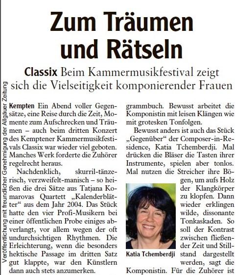 Allgäuer Zeitung, 30.09.2017