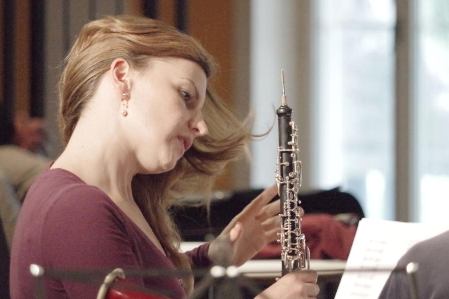 Samstag/Sonntag 23./24.09.2017 - Proben: Céline Moinet (Oboe)  (Foto: Christine Tröger)
