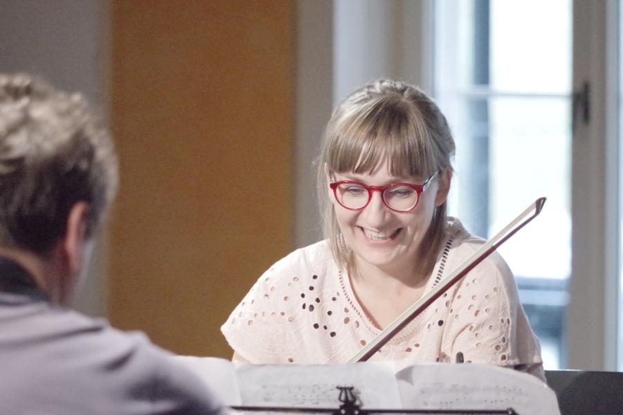 Samstag/Sonntag 23./24.09.2017 - Proben: Eriikka Maalismaa (Violine) (Foto: Christine Tröger)