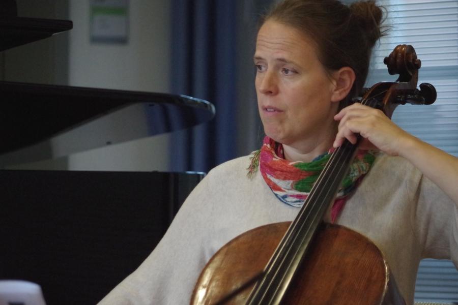 Samstag/Sonntag 23./24.09.2017 - Proben: Amy Norrington (Violoncello) ... (Foto: Christine Tröger)