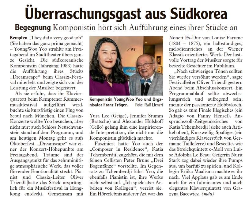 Allgäuer Zeitung, 02.10.2017