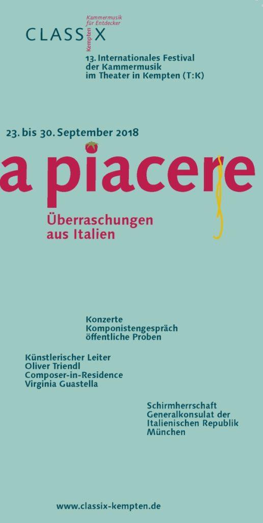 CLASSIX Kempten 2018 Flyer Cover