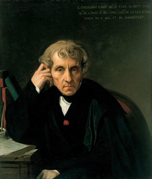 Luigi Cherubini, Gemälde von Jean-Auguste-Dominique Ingres (Foto: Wikipedia gemeinfrei)