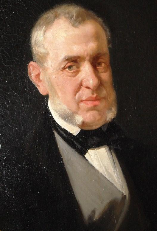 Saverio Mercadante, Gemälde von Andrea Cefaly (Wikipedia gemeinfrei)