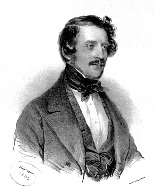Gaetano Donizetti, Portrait von Joseph Kriehube 1842 (Foto Wikipedia, gemeinfrei)