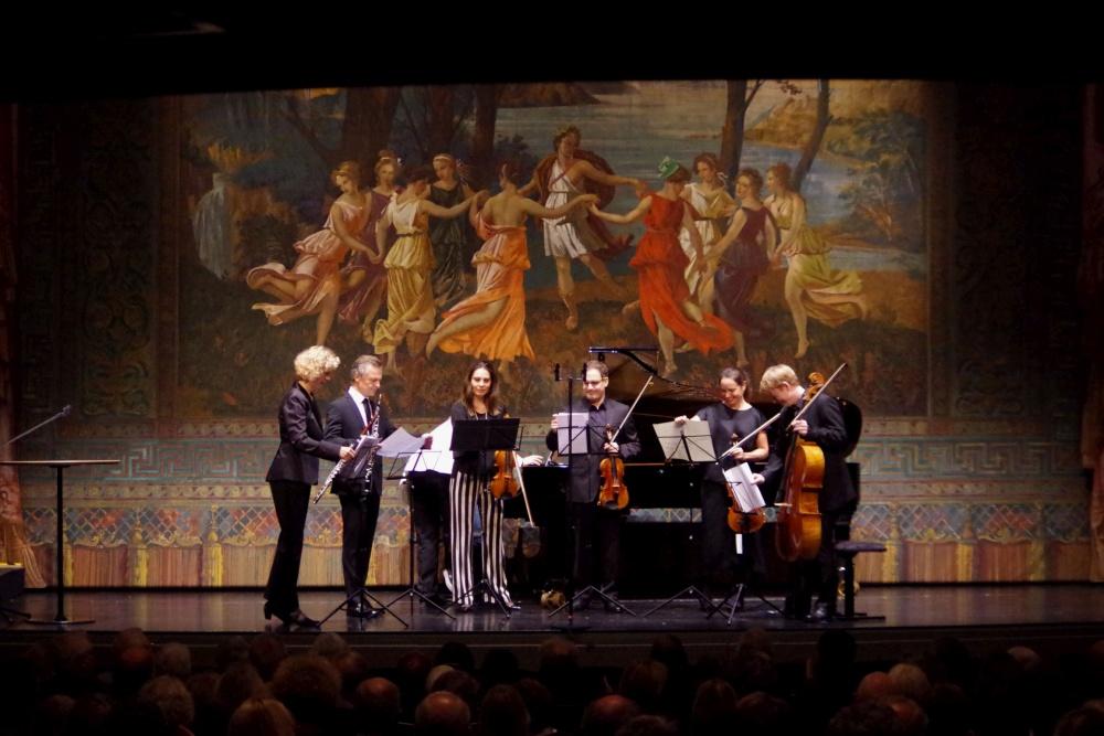 23.9.2018 - Konzert: Anna Garzuly-Wahlgren (Flöte), Olivier Doise (Oboe), Nina Karmon (Violine 1), Jack Liebeck (Violine 2), Lise Berthaud (Viola), Mischa Meyer (Violoncello) und Oliver Triendl (Klavier) ... (Foto: Christine Tröger)