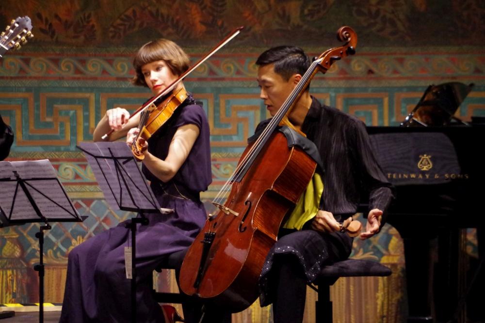 23.9.2018 - Konzert: ... beim Fadango-Quintett von Luigi Boccherini (1743-1805). (Foto: Christine Tröger)