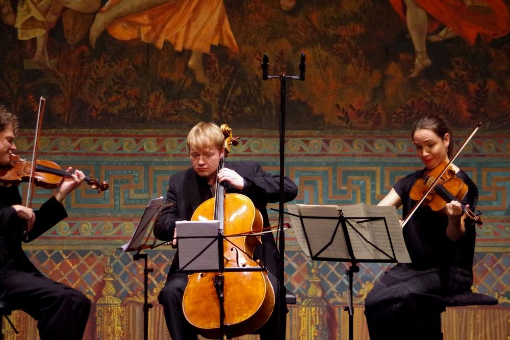 23.9.2018 - Konzert: Corey Cerovsek (Violine), Lise Berthaud (Viola) und Mischa Meyer (Violoncello) ... (Foto: Christine Tröger)
