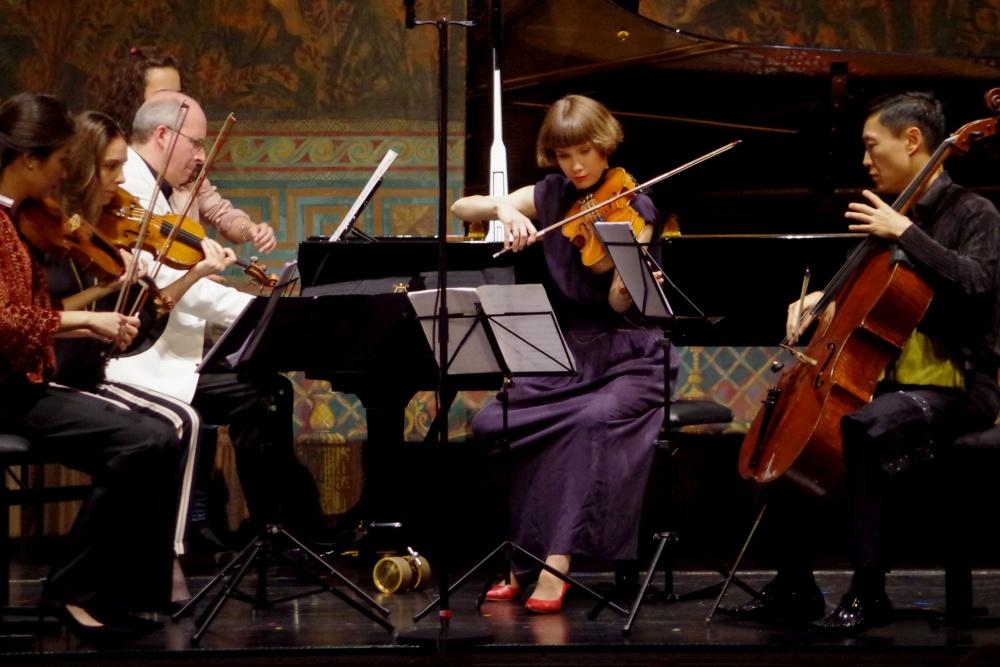 23.9.2018 - Konzert: Oliver Triendl (Klavier), Christel Lee (Violine 1), Nina Karmon (Violine 2), Lilli Maijala (Viola) und Trey Lee (Violoncello) beim ... (Foto: Christine Tröger)