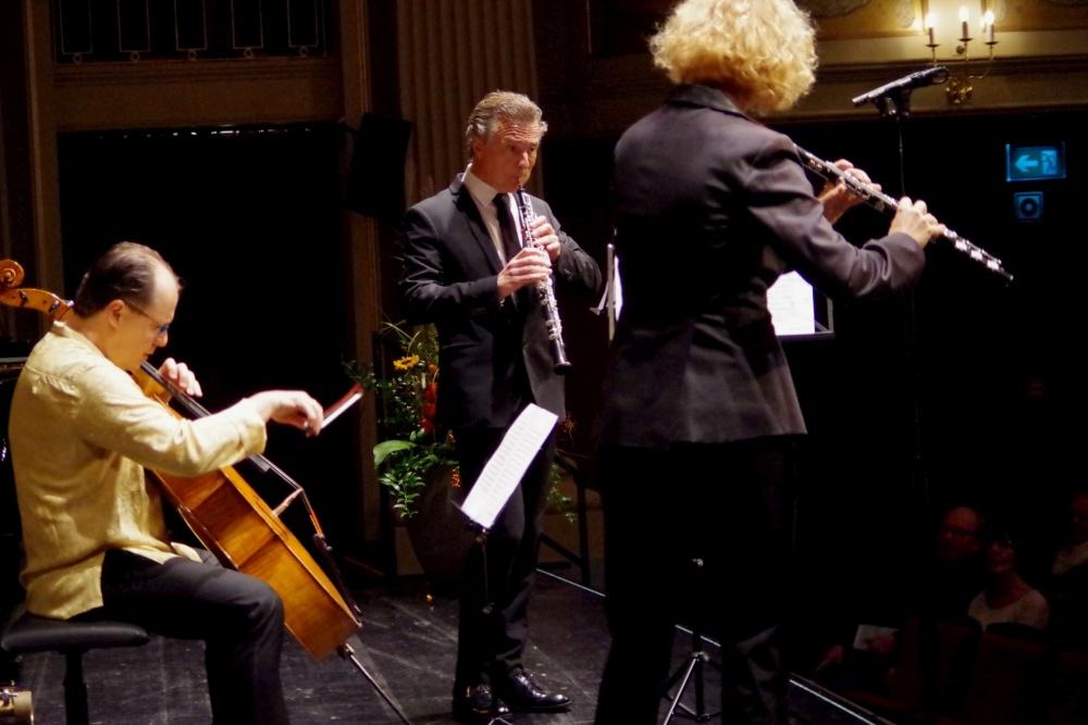 23.9.2018 - Konzert: ... an diesem Abend zusammen mit Giovanni Gnocchi (Violoncello) ein Arrangement eines Duetts aus Rossinis »Mosè in Egitto«. (Foto: Christine Tröger)