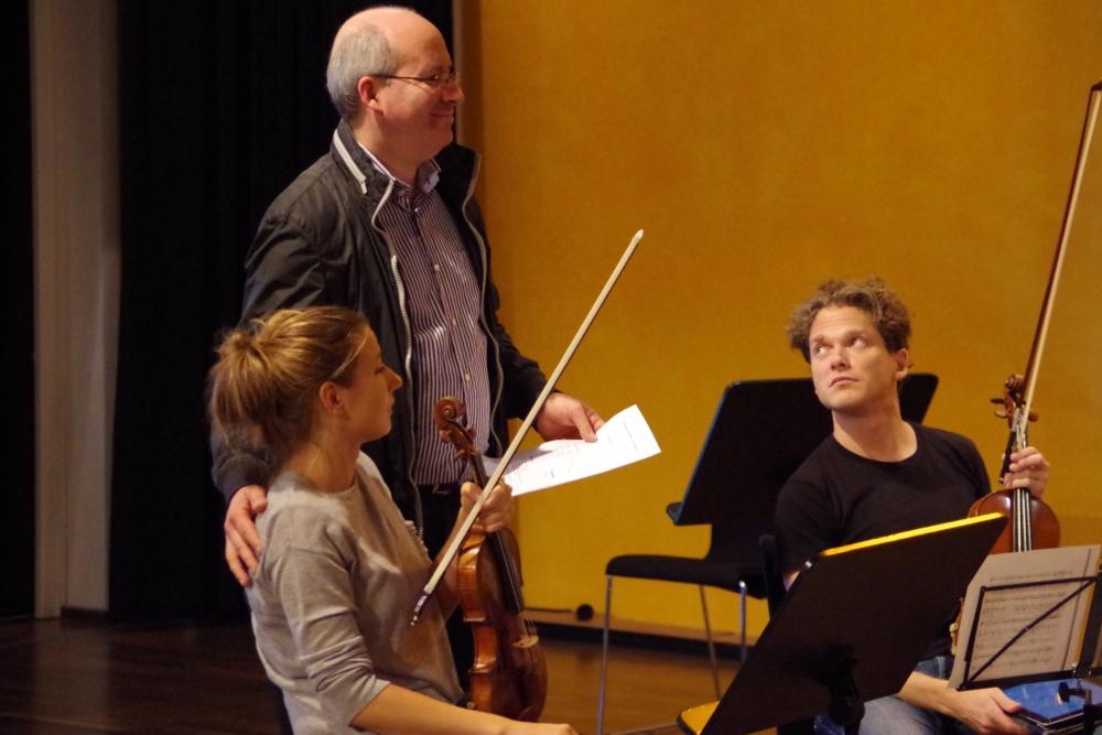 25.9.2018 – Proben: ... dem Pianisten Oliver Triendl ... (Foto: Christine Tröger)