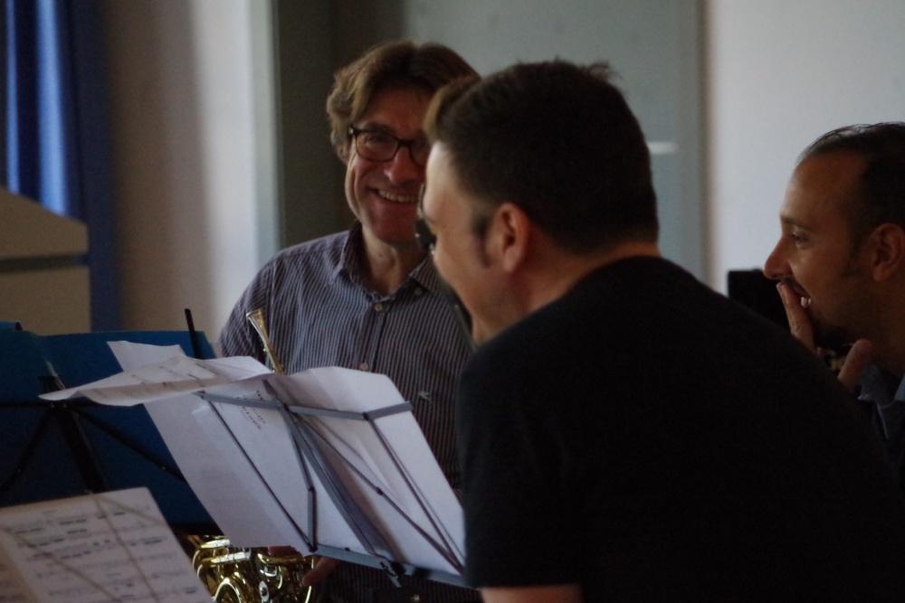 25.9.2018 – Proben: ... Hervé Joulain (Horn), Isaac Rodríguez (Klarinette) und Andrea Zucco (Fagott) ... (Foto: Christine Tröger)