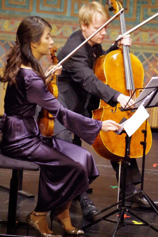 26.9.2018 – Konzert: ... warten auf ihren Einsatz ... (Foto: Christine Tröger)
