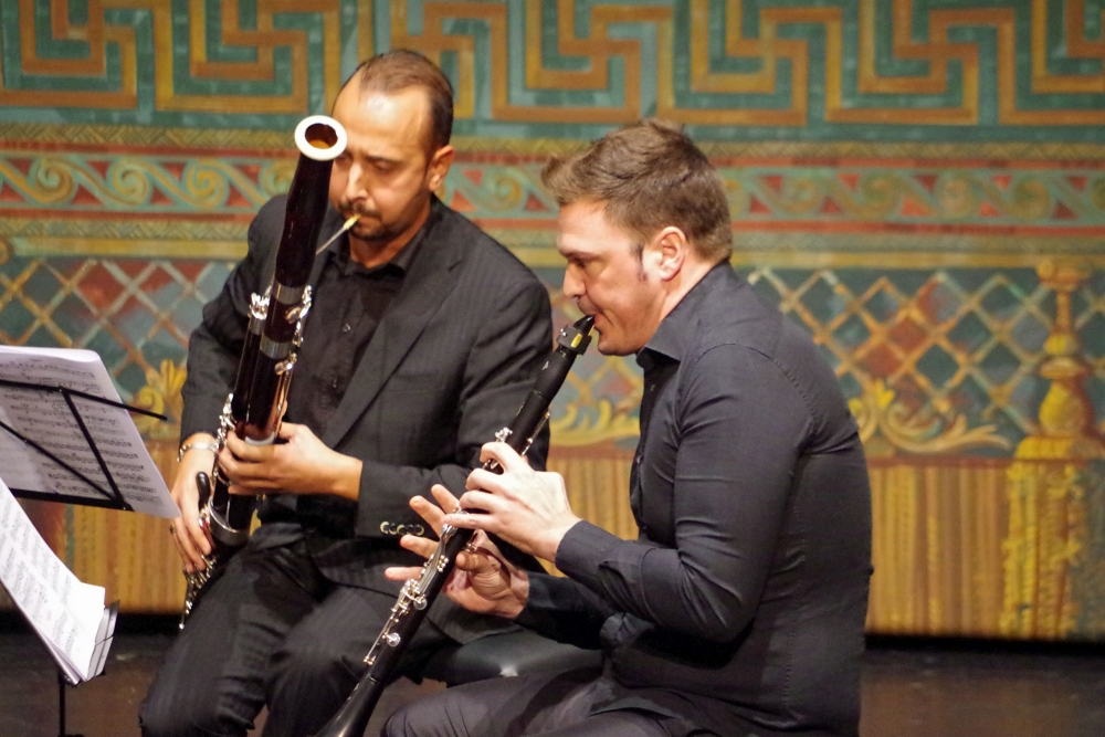 26.9.2018 – Konzert: ... Andrea Zucco (Fagott) und Isaac Rodríguez (Klarinette) mit vollem Einsatz  ... (Foto: Christine Tröger)