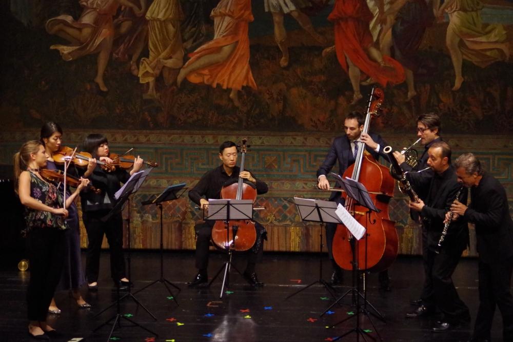 26.9.2018 – Konzert: ... mit dem Oktett von Giovanni Pacini (1796-1867) ... (Foto: Christine Tröger)