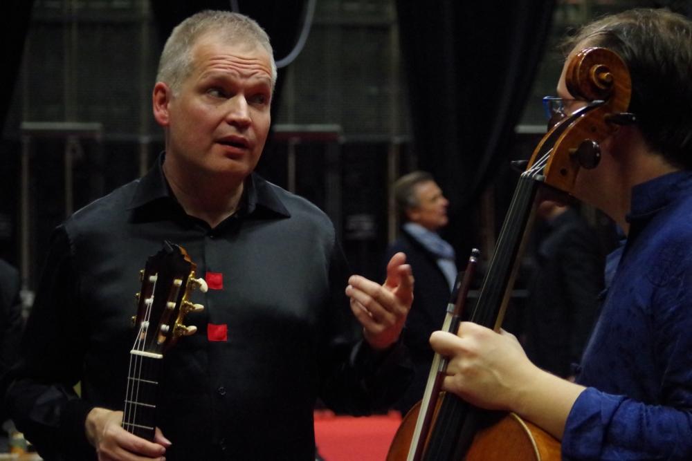 26.9.2018 – Konzert: ... hinter die Bühne ... (Foto: Christine Tröger)