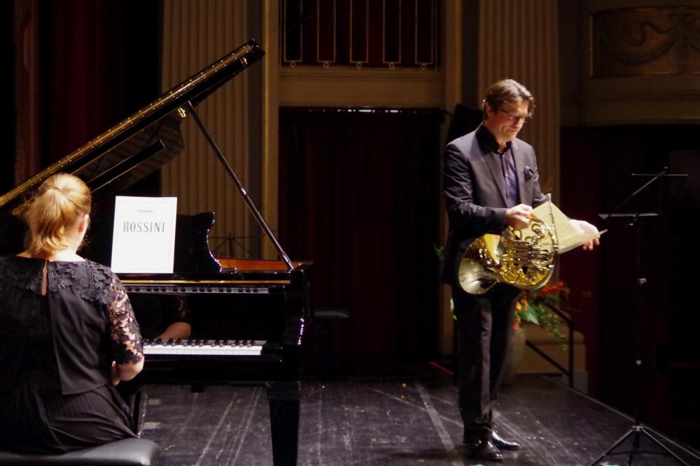 26.9.2018 – Konzert: ... Lauma Skride (Klavier) und Hervé Joulain (Horn) ... (Foto: Christine Tröger)