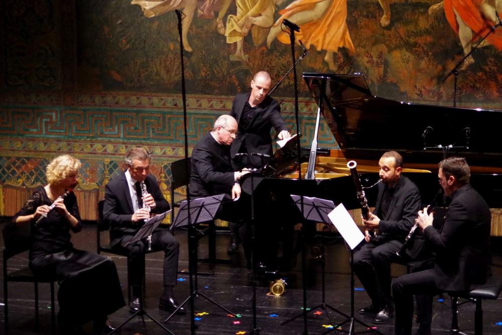 27.9.2018 – Konzert: ... und schon im Konzert -  Giorgio Federico Ghedinis (1892-1965) »Concerto a cinque« von 1932) ... (Foto: Christine Tröger)