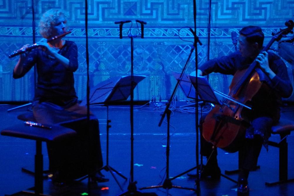 27.9.2018 – Konzert: ... interpretiert von Anna Garzuly-Wahlgren (Flöte) und Trey Lee (Violoncello). (Foto: Christine Tröger)