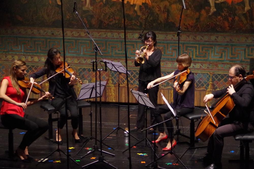 27.9.2018 – Konzert: für Virginia Guastellas (*1979) ganz wunderbares Werk »Vento del golfo« (Omaggio a Palermo) (2010) ... (Foto: Christine Tröger)
