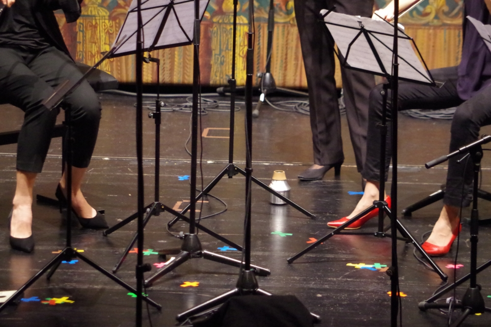 27.9.2018 – Konzert: ... mit einigen Farbtupfern ... (Foto: Christine Tröger)