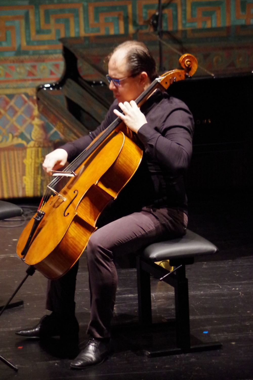 27.9.2018 – Konzert: ... und dem Cellisten Giovanni Gnocchi ... (Foto: Christine Tröger)