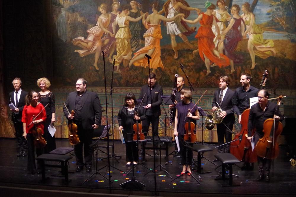 """27.9.2018 – Konzert: Gian Francesco Malipieros (1882-1973) """"Ricercari"""" für 11 Instrumente (1925) braucht ein kleines Orchester ... (Foto: Christine Tröger)"""