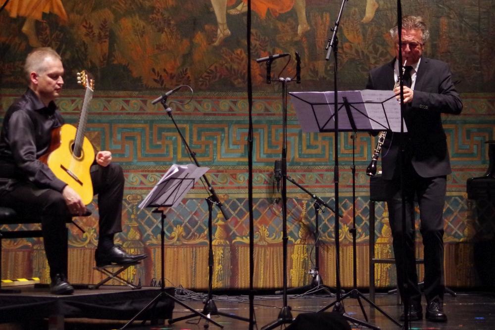 27.9.2018 – Konzert: ... und Olivier Doise (Oboe d'amore) ... (Foto: Christine Tröger