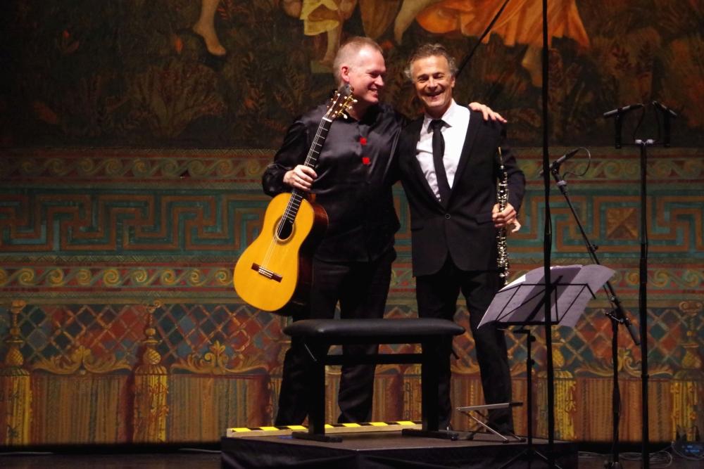 """27.9.2018 – Konzert: ... glücklich nach souveränem """"!Aulodia per Lothar"""" (1965) von Bruno Maderna (1920-1973). (Foto: Christine Tröger)"""