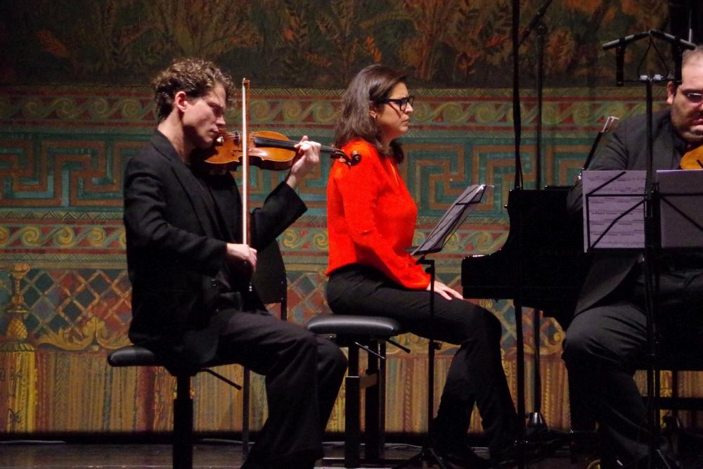 28.9.2018 – Konzert: ... beim Klavierquartett »Notturna« (2009) ... (Foto: Christine Tröger)