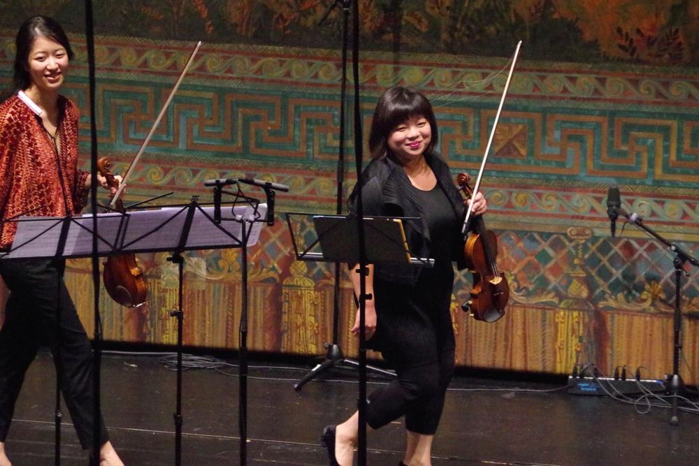 28.9.2018 – Konzert: ... Virtuosität und höchste Konzentration. Geschafft! (Foto: Christine Tröger)
