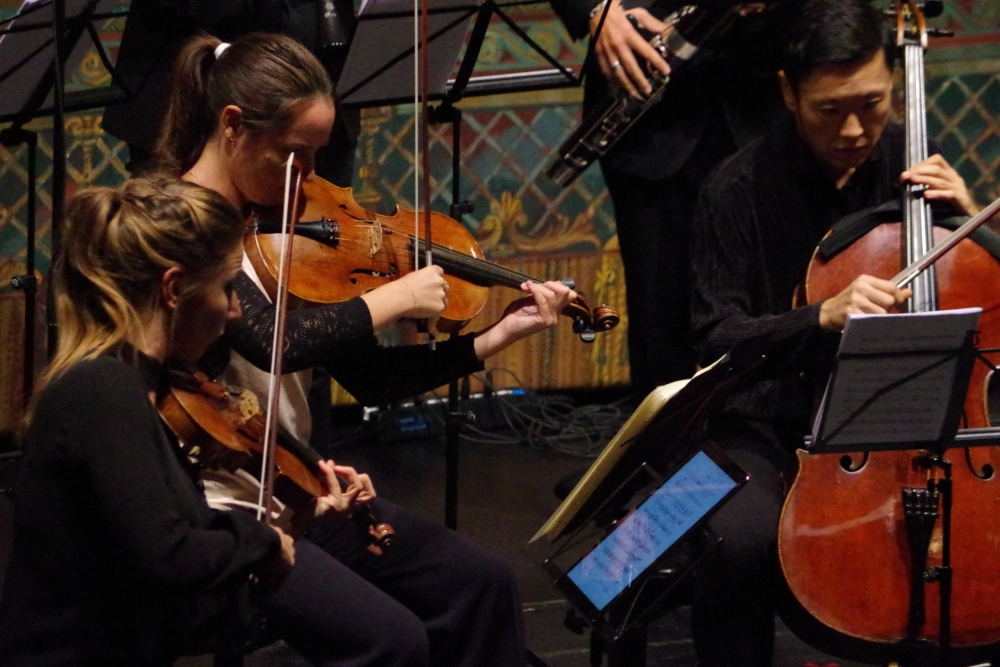 28.9.2018 – Konzert: ... Rosanne Philippens (Violine), Lise Berthaud (Viola), Trey Lee (Violoncello) ... (Foto: Christine Tröger)